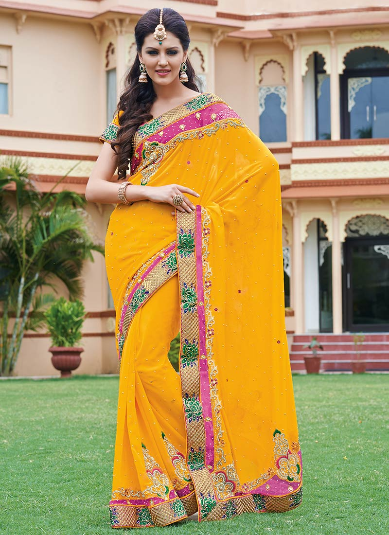 Latest Indian Party Wear Sarees Collection 2015-2016 (29)