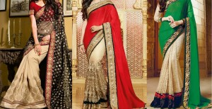 Latest Indian Party Wear Fancy Sarees Designs Collection 2017-2018