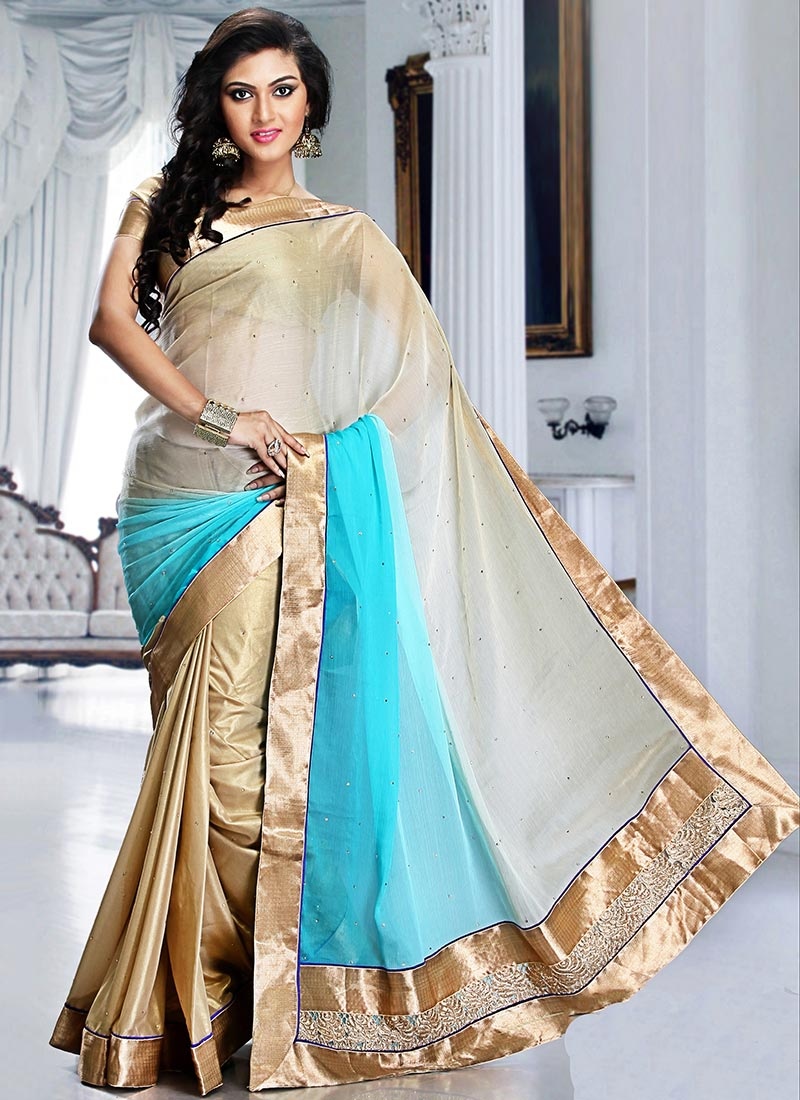 Latest Indian Party Wear Sarees Collection 2015-2016 (33)