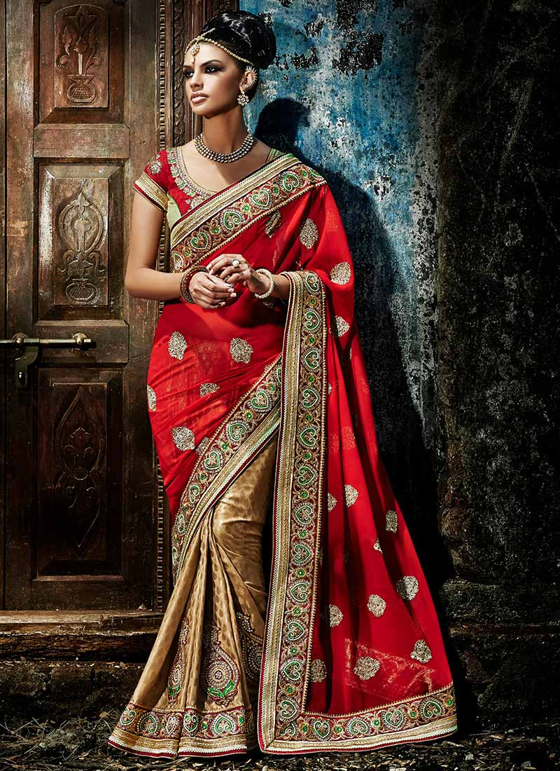 Latest Indian Party Wear Sarees Collection 2015-2016 (35)