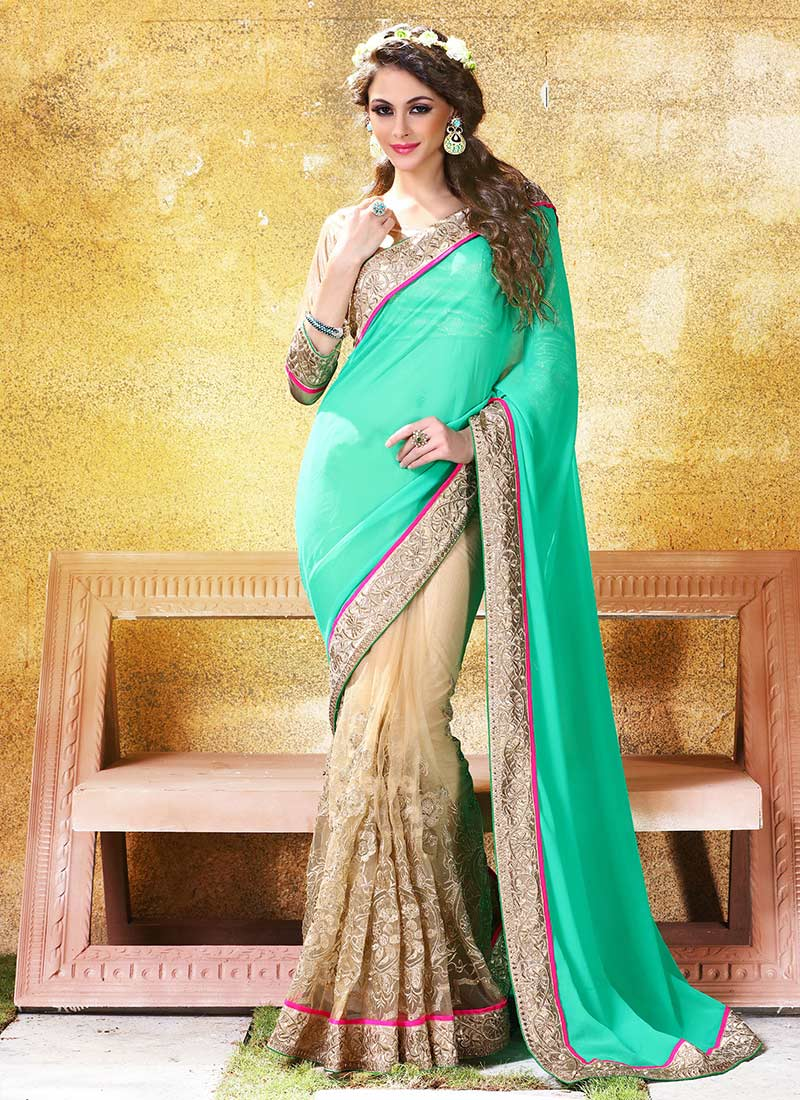 Latest Indian Party Wear Sarees Collection 2015-2016 (5)