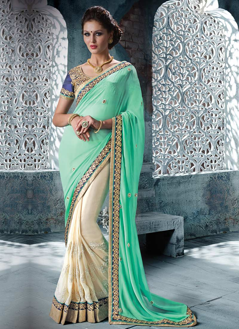 Latest Indian Party Wear Sarees Collection 2015-2016 (8)