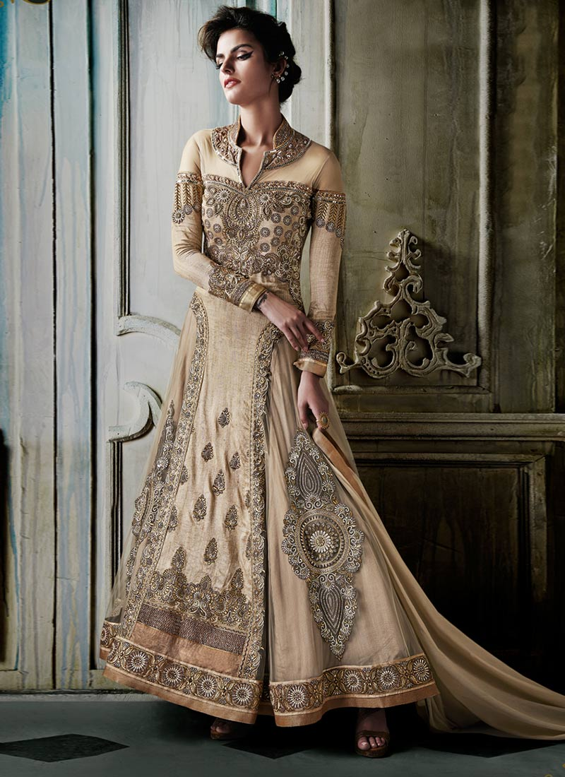 Latest Maxi Style Anarkali Dresses & Frocks Designs 2015-2016 (1)
