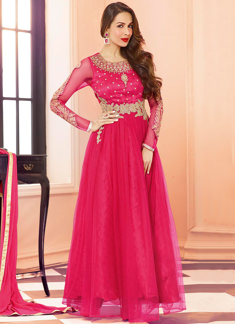 Latest Maxi Style Anarkali Dresses & Frocks Designs 2015-2016 (15)