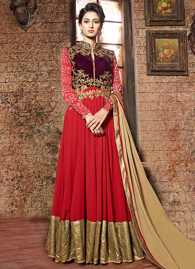 Latest Maxi Style Anarkali Dresses & Frocks Designs 2015-2016 (21)