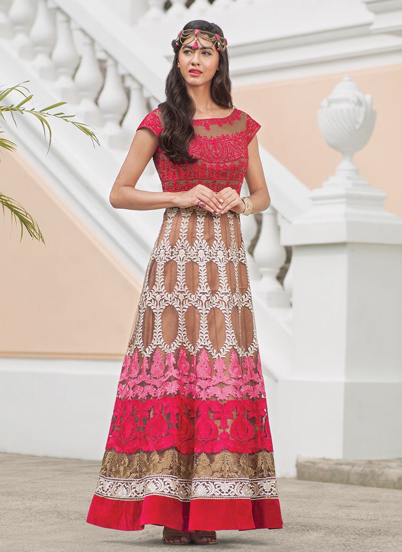 Latest Maxi Style Anarkali Dresses & Frocks Designs 2015-2016 (3)
