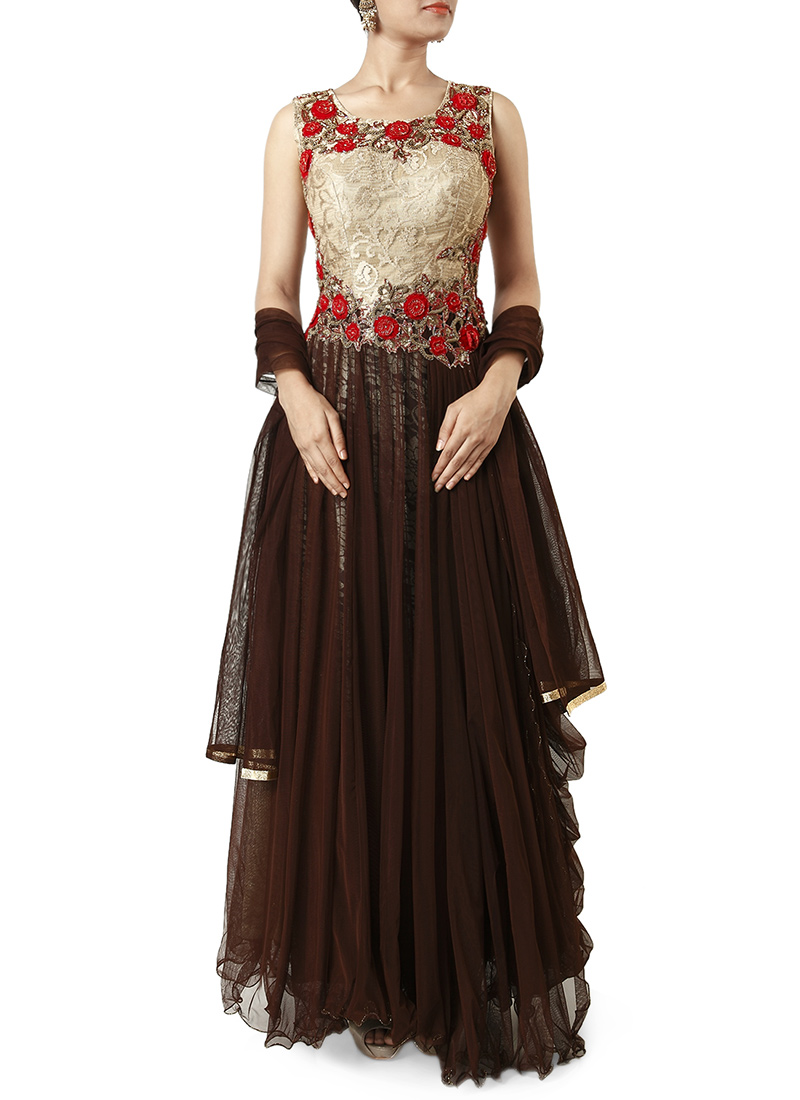 Latest Maxi Style Anarkali Dresses & Frocks Designs 2015-2016 (4)