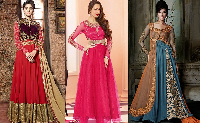 Latest Maxi Style Anarkali Dresses & Frocks Designs 2015-2016