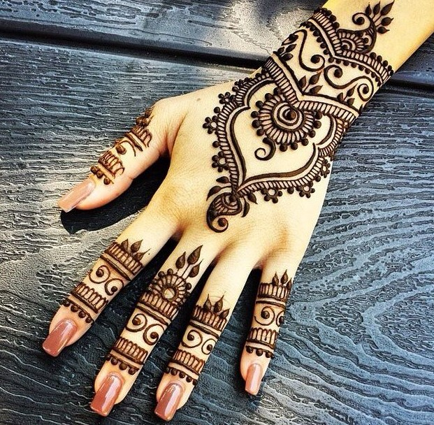 Latest Simple Eid Mehndi Designs Collection 2015-2016 (12)