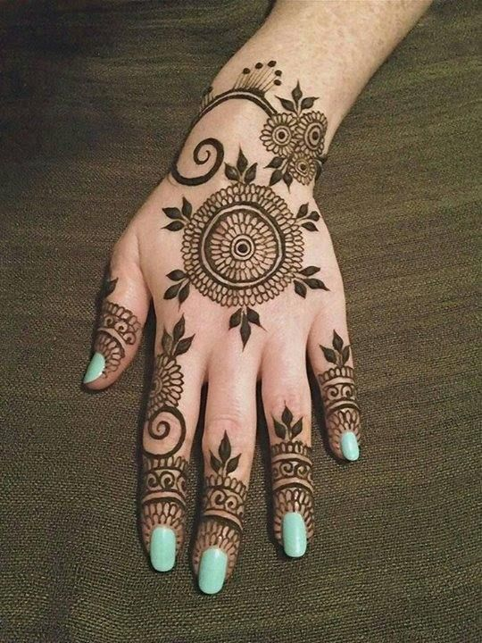 Latest Simple Eid Mehndi Designs Collection 2015-2016 (14)