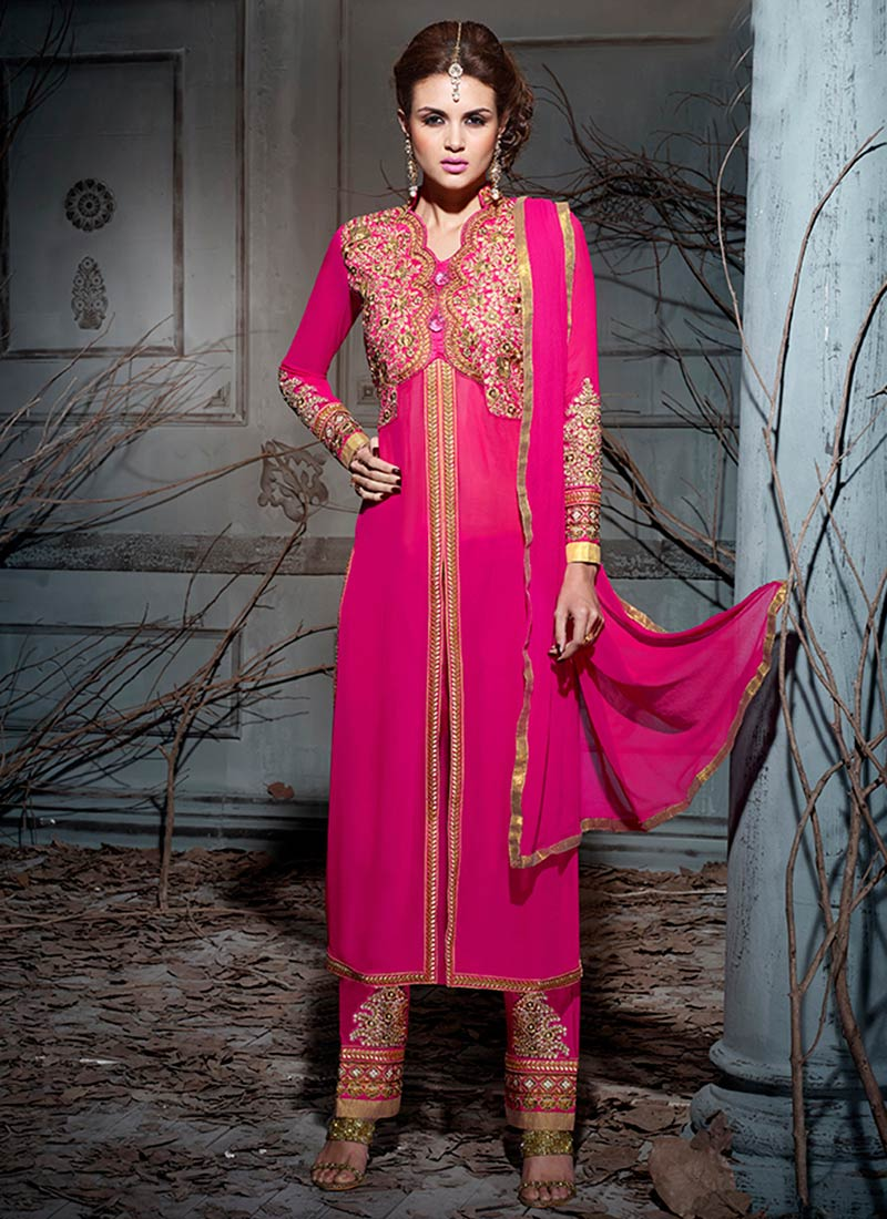 Latest Straight Pant Suits Collection for Women 2015-2016 (18)