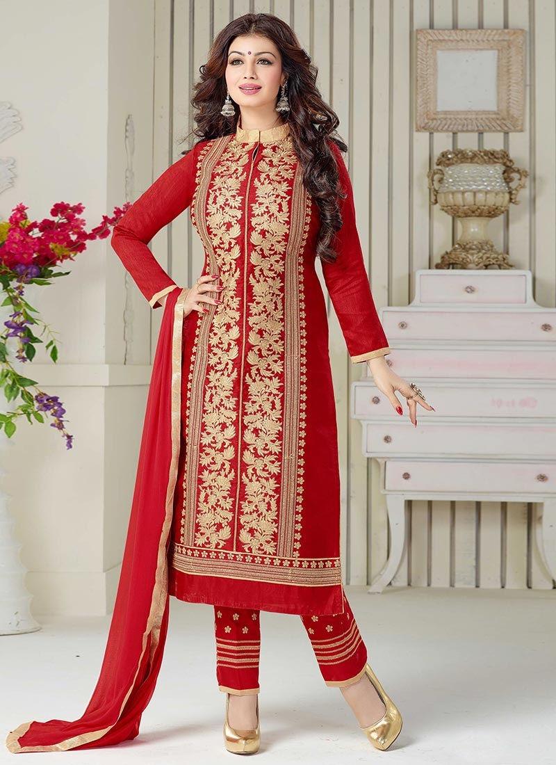 Latest Straight Pant Suits Designs Collection 2018-2019 6740a1abb3