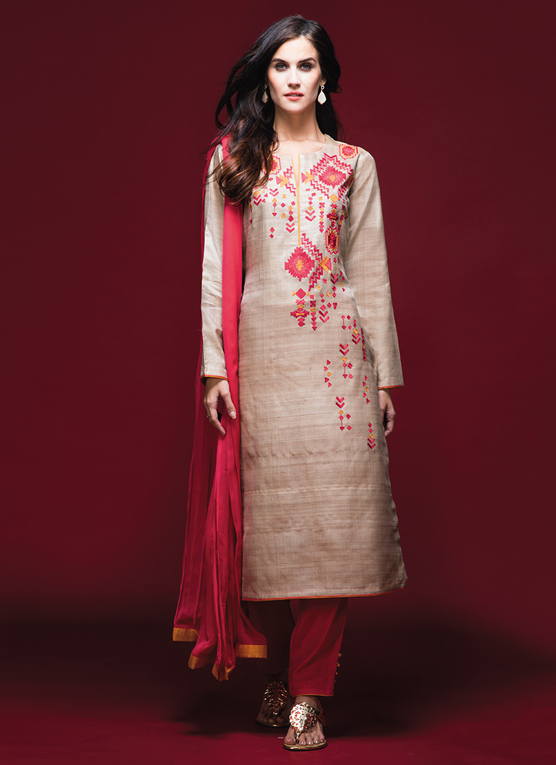 Latest Straight Pant Suits Designs Collection 2018 2019