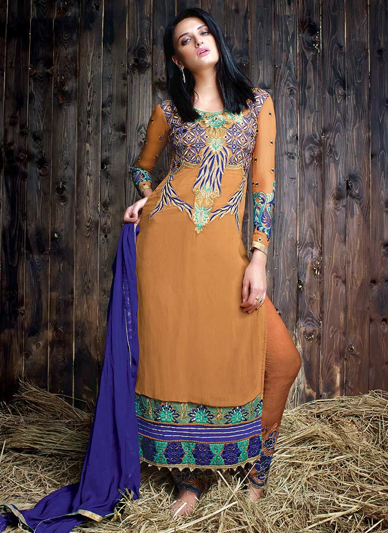 Latest Straight Pant Suits Designs Collection 2018-2019