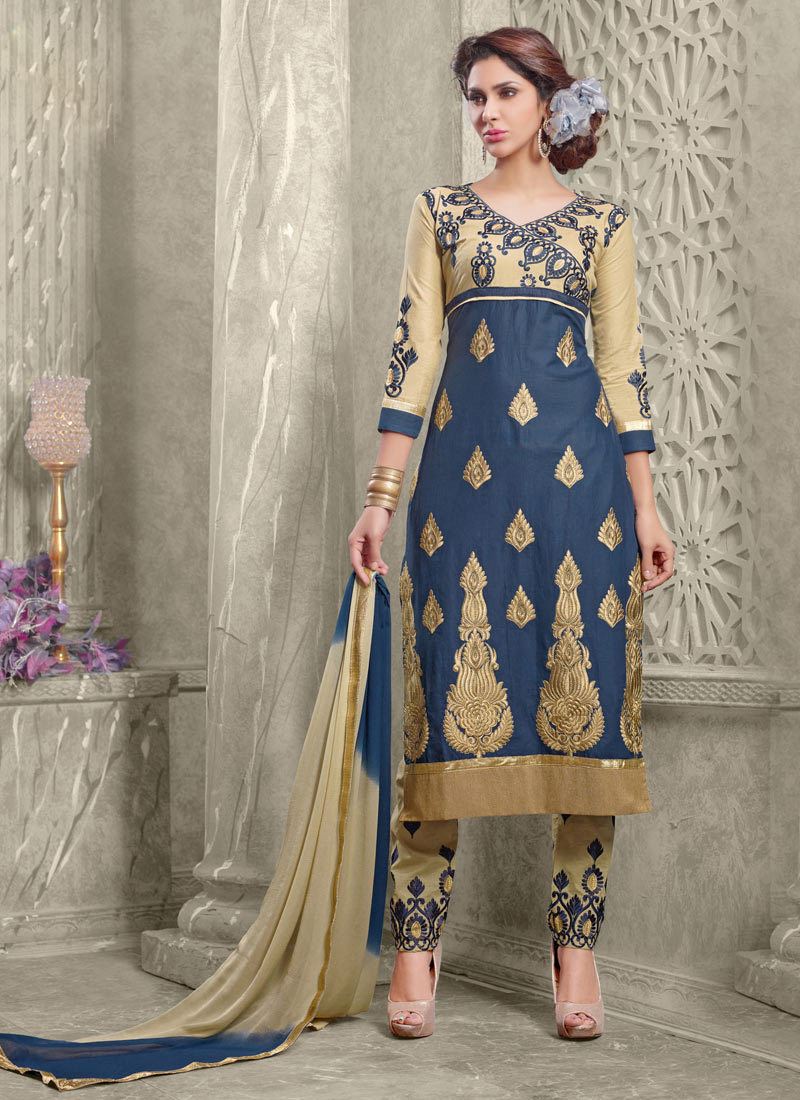 Latest Straight Pant Suits Collection for Women 2015-2016 (8)