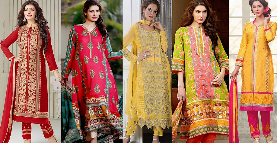 Latest Straight Pant Suits Collection for Women 2015-2016