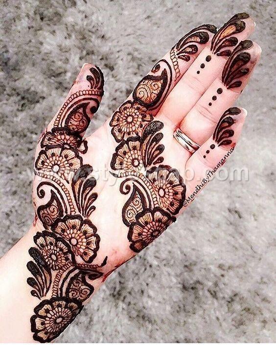 Mehndi Arm Design 2018 : Peacock round tikki mehndi designs latest collection