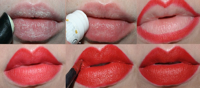 Step by Step Bold Red Lipstick Tutorial for Christmas