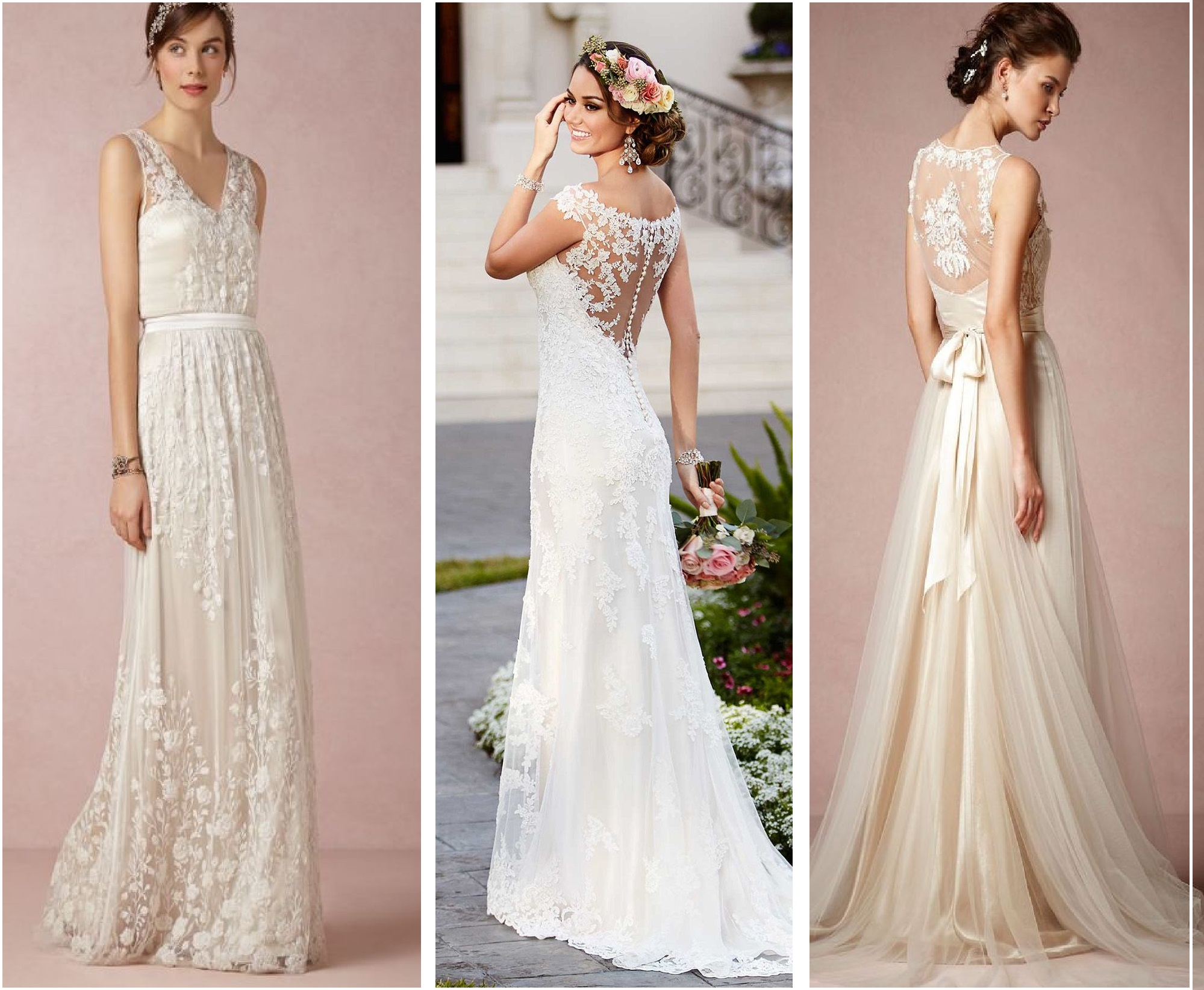Wedding Gowns 2015: White Wedding Gowns Bridal Dresses Collection 2016-2017