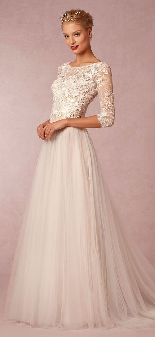 White Wedding Gowns Bridal Dresses Collection 2015-2016 (25)