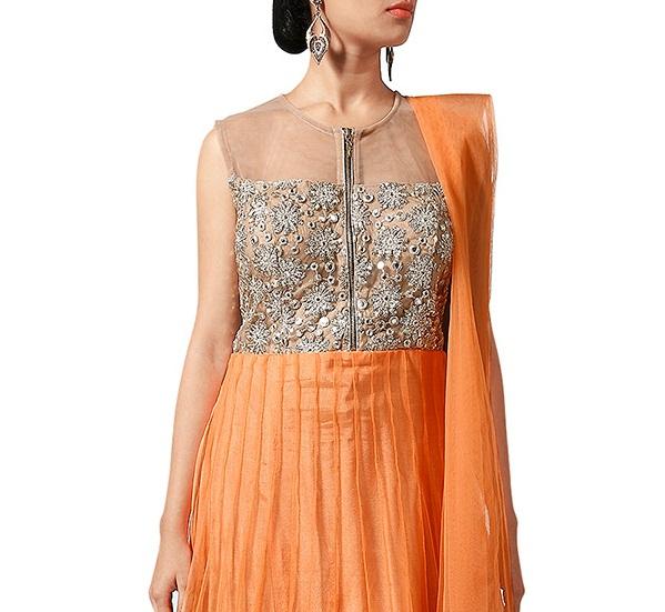 Beautiful Neckline Designs for Anarkali Suits (1)