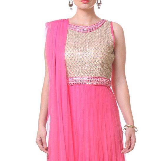 Beautiful Neckline Designs for Anarkali Suits (2)