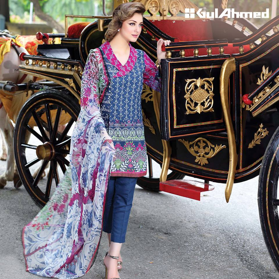 Gul ahmed winter dresses collection 2015 fashionip - Blended Chiffon Pure Chiffon Winter Dresses Collection 2016 By Gul Ahmed