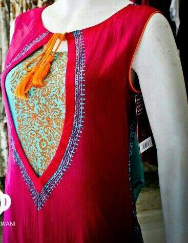Embroidered Fancy Gala Neckline Designs (5)