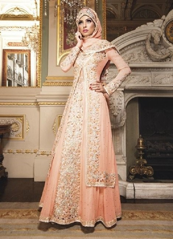 Fancy Party Wear Formal Hijabs with Abaya Collection 2016-2017 (18)