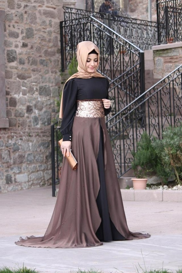 Fancy Party Wear Formal Hijabs with Abaya Collection 2016-2017 (20)
