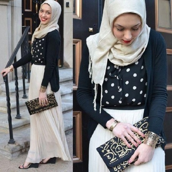 Fancy Party Wear Formal Hijabs with Abaya Collection 2016-2017 (21)