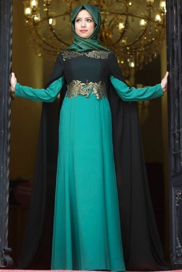 Fancy Party Wear Formal Hijabs with Abaya Collection 2016-2017 (28)