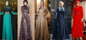 Fancy Party Wear Formal Hijabs & Abaya Collection