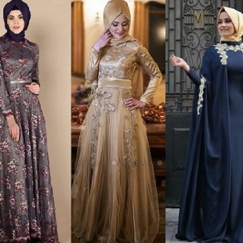 Latest Fancy Party Wear Formal Hijabs Abaya Collection 2018-2019