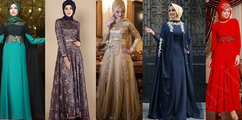 Fancy Party Wear Formal Hijabs with Abaya Collection 2016-2017 (29)