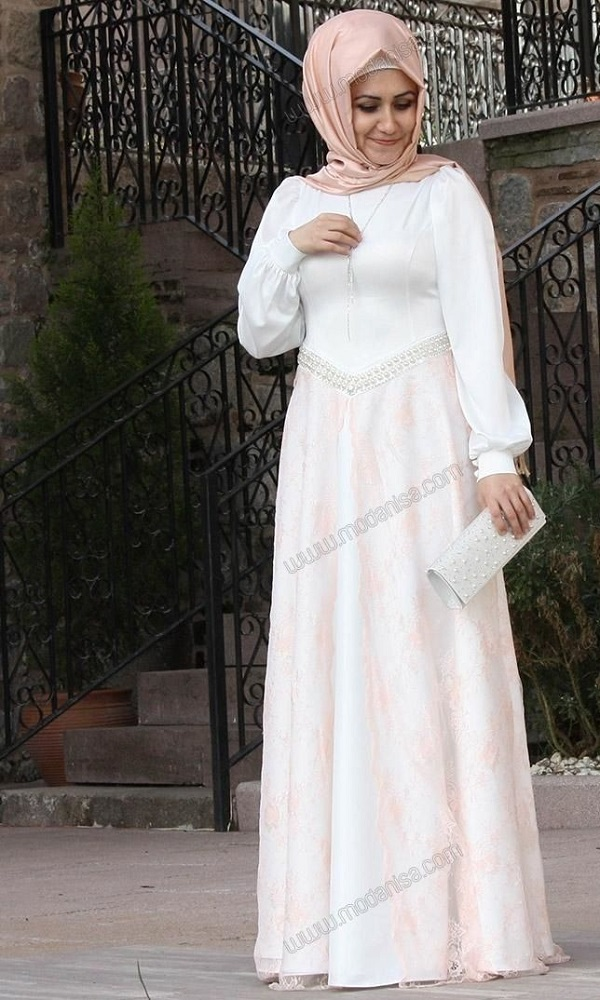 Fancy Party Wear Formal Hijabs with Abaya Collection 2016-2017 (3)