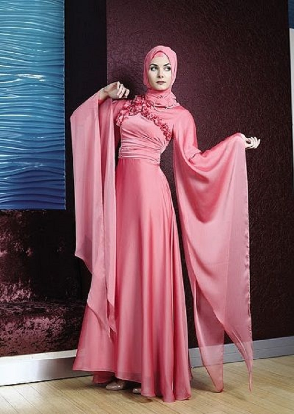 Fancy Party Wear Formal Hijabs with Abaya Collection 2016-2017 (8)