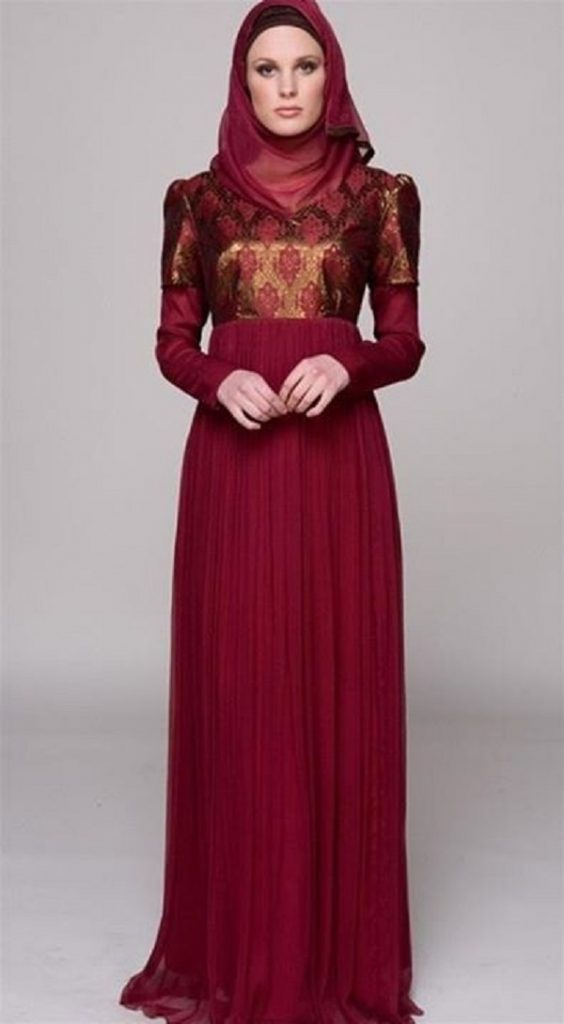 Fancy Party Wear Formal Hijabs with Abaya Collection 2016-2017 (9)