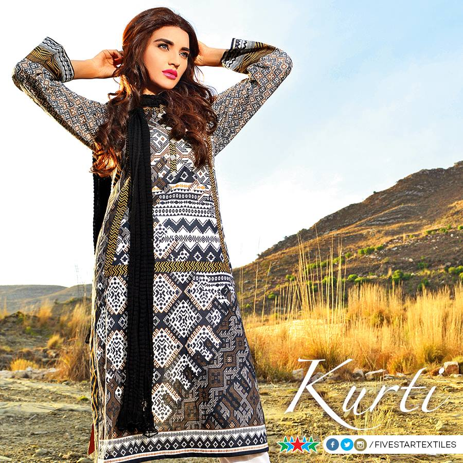 Five Star Textile Winter Dresses Collection 2015-2016 (2)