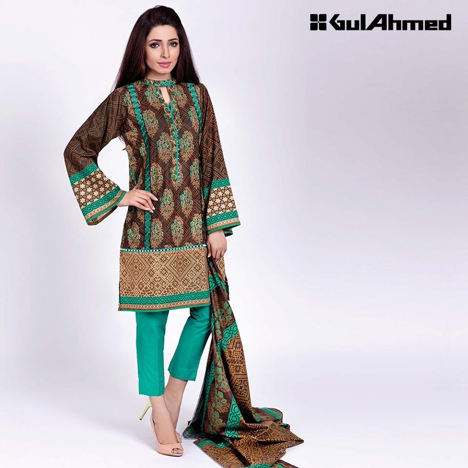 Gul ahmed winter dresses collection 2015 fashionip - Gul