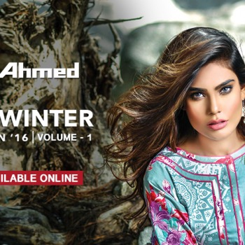 Gul Ahmed Winter Dresses Collection 2016-17 Chiffon Khaddar Linen