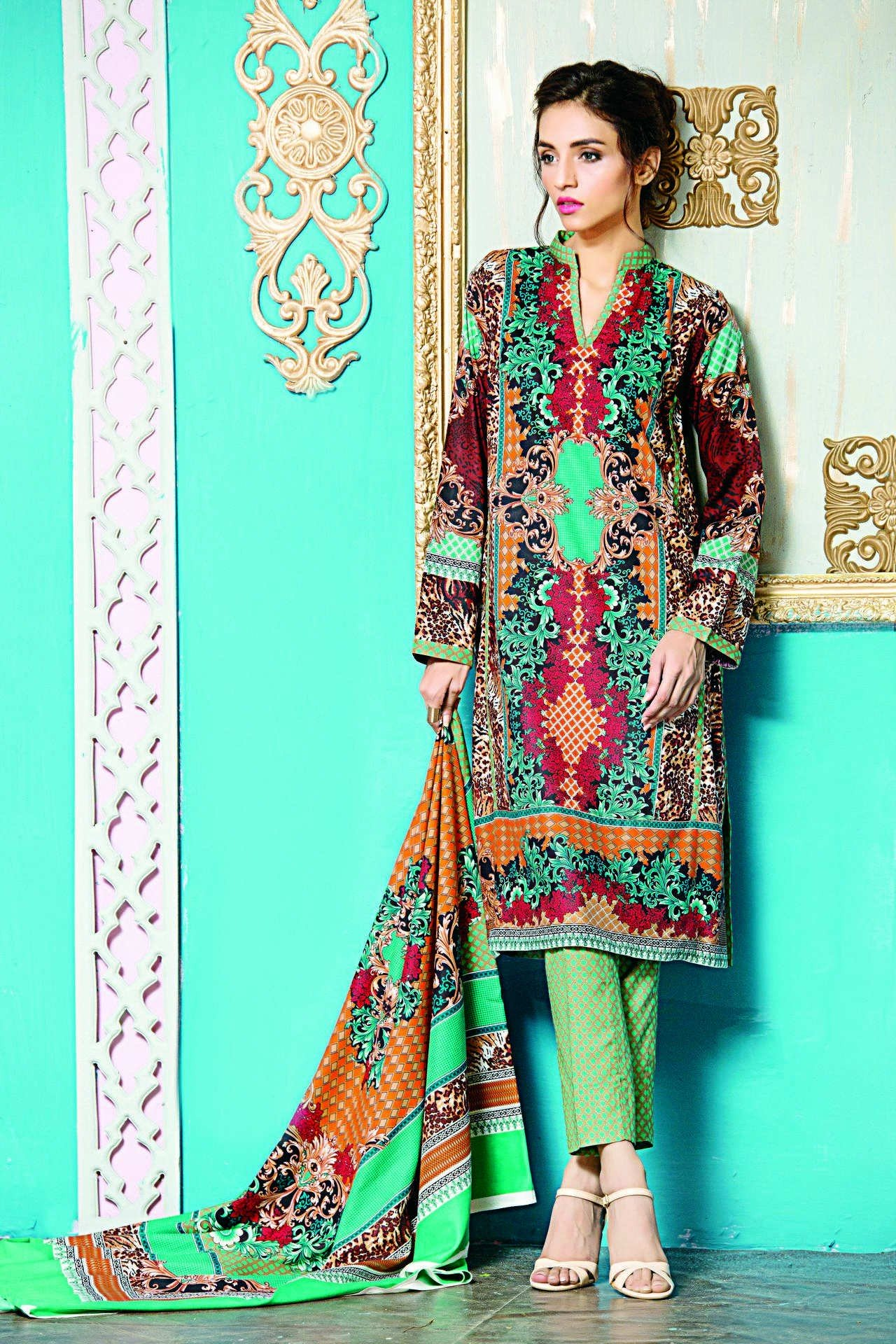 Mesmerizing winter dresses collection of luxurious elan brand