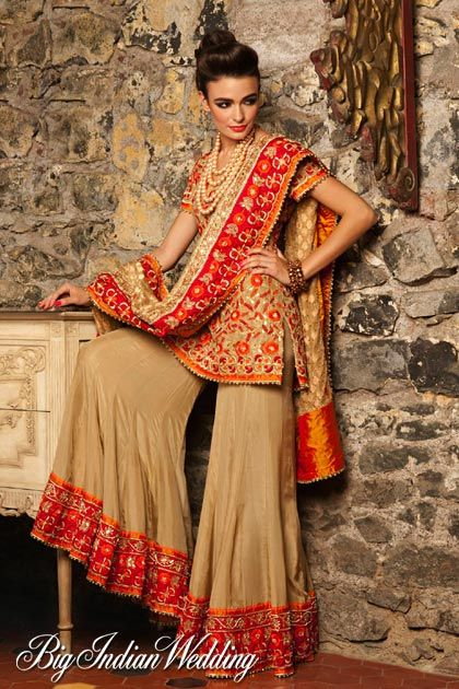 Indian Bridal Wedding Sharara Designs Collection 2015 2016 12