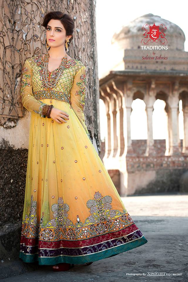 Indian Party Wear Frocks & dresses 2015-2016 (13)