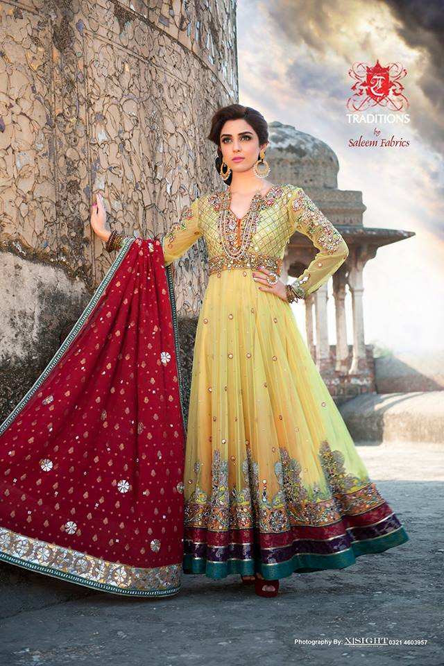 Indian Party Wear Frocks & dresses 2015-2016 (15)
