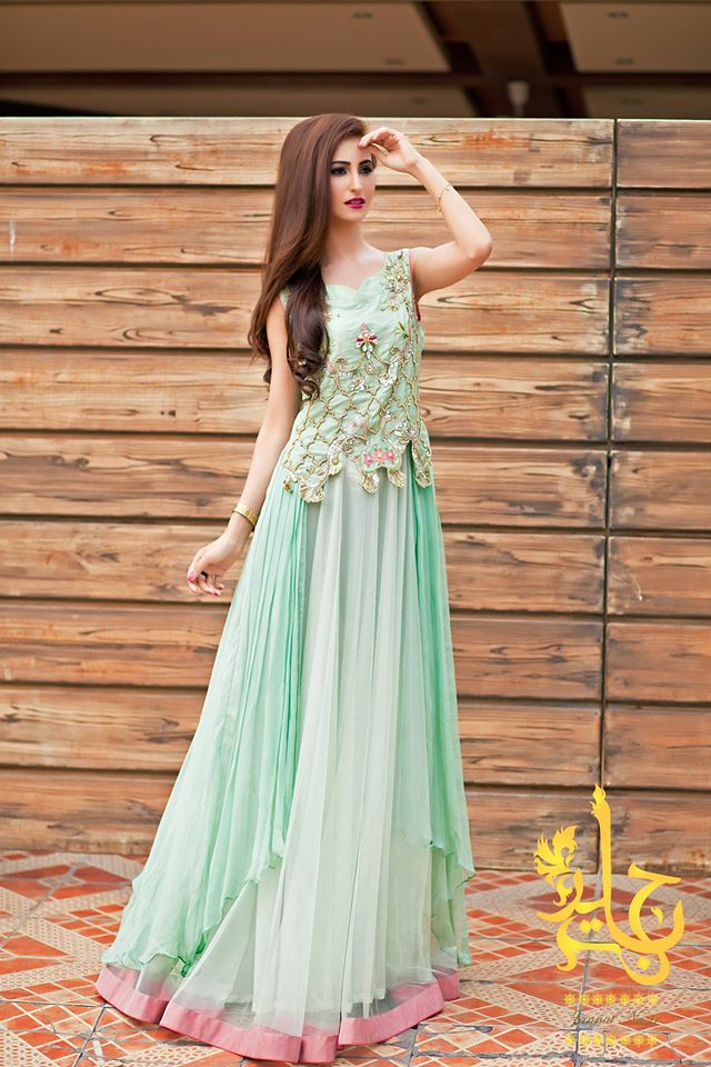 Indian Party Wear Frocks & dresses 2015-2016 (3)