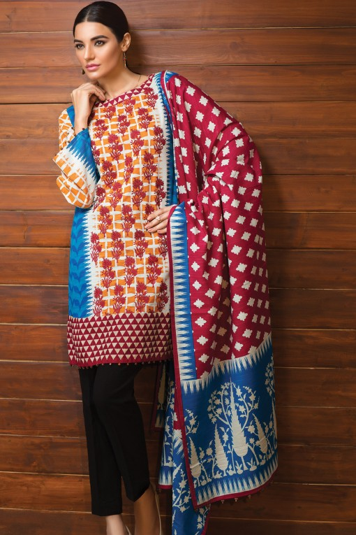 khaadi-winter-dresses-two-piece-suit-designs-6