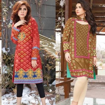 Lakhany Latest Winter Kurtis Collection 2018-2019 by LSM Fabrics