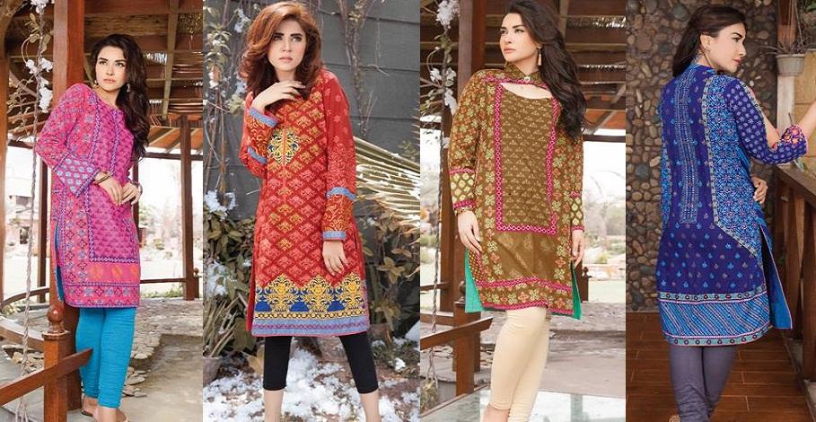 Latest Winter Kurtis Collection 2017 2018 By Lsm Fabrics