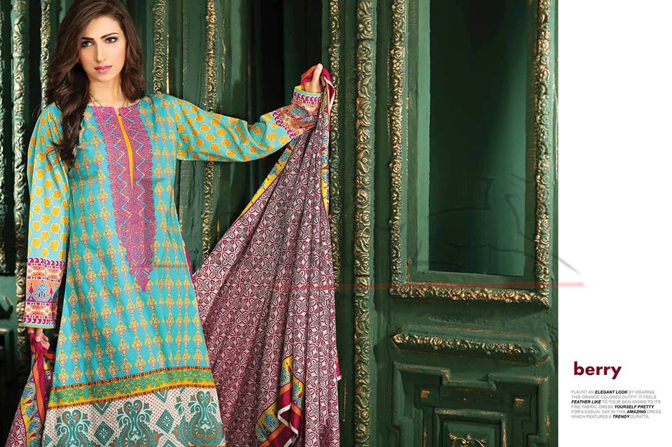 Lala Winter Embroidered Cotton-Linen Dresses 2015-2016 (28)